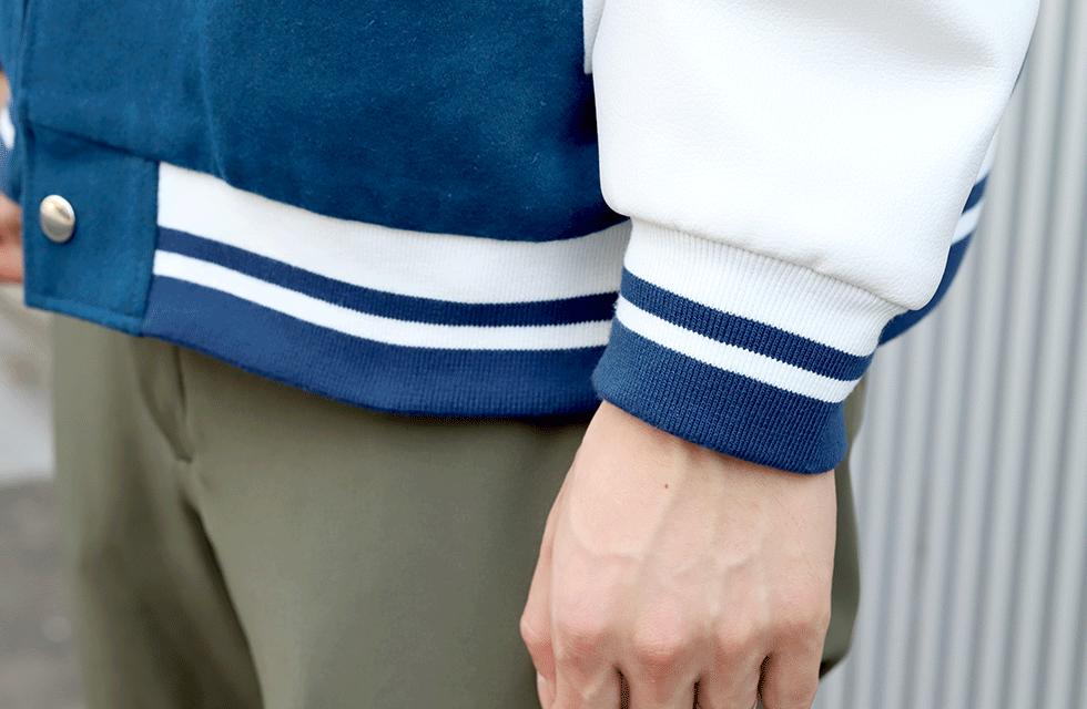 裾・袖リブ部分