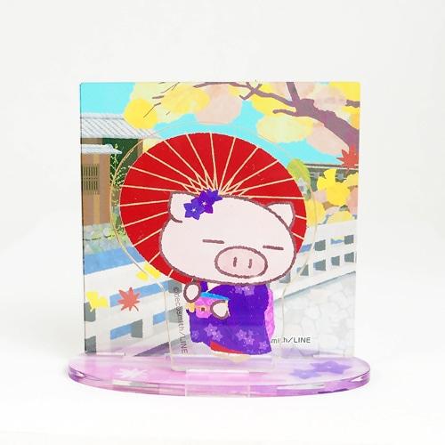 ぶたた・アクリルスタンド/京都描き下ろし