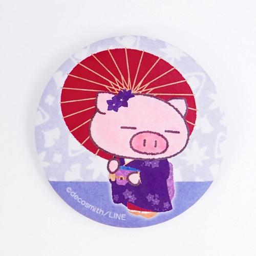 ぶたた・缶バッジ/京都描き下ろし