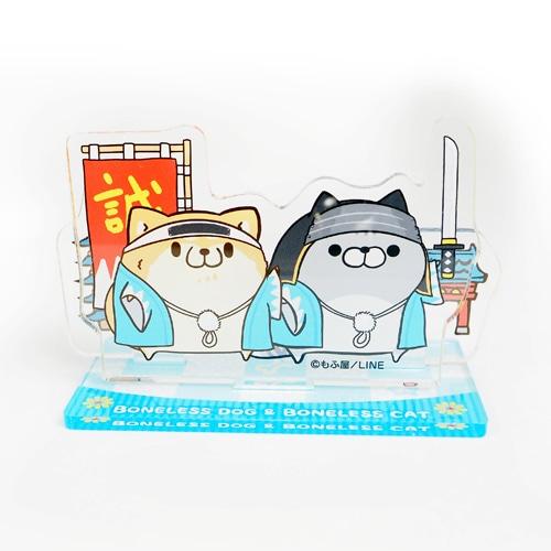 ボンレス犬&ボンレス猫・アクリルスタンド/京都描き下ろし