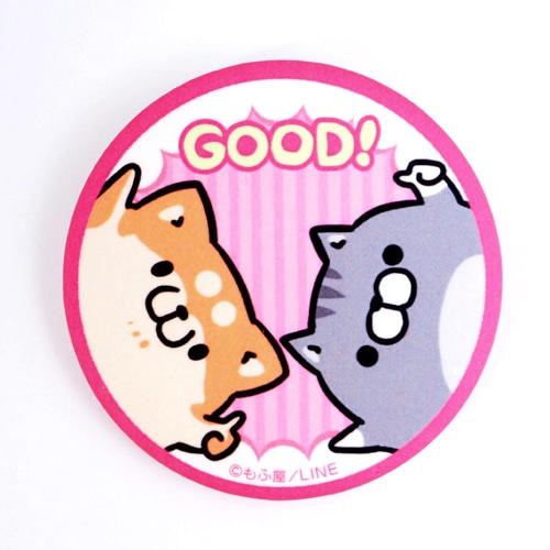 ボンレス犬&ボンレス猫・缶バッジ/GOOD