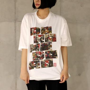 TシャツB 女性着用写真